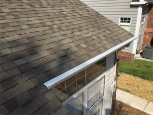 GutterRX caps installed on existing k-style gutters