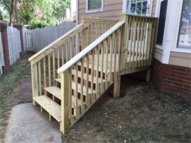 Decks  Replacement of landing and steps