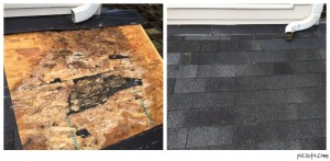 Roof Shingle Rot Repair