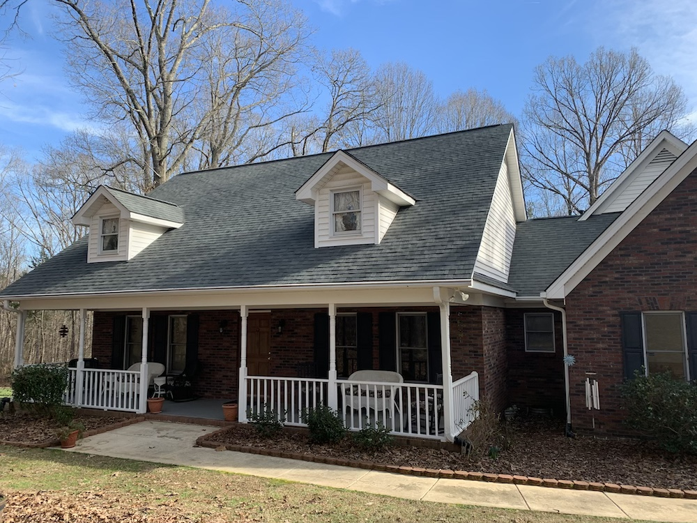 Complete roof replacement in Mint Hill, North Carolina.