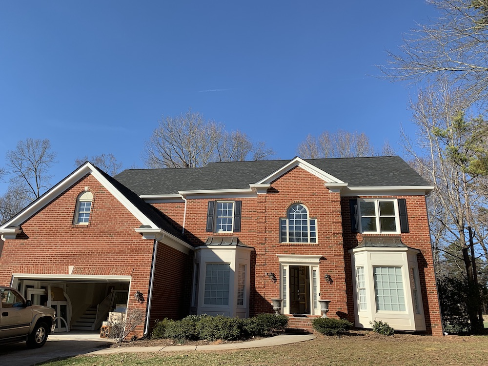 Roof replacement in Piper Glen neighborhood located in Ballantyne area of South Charlotte.