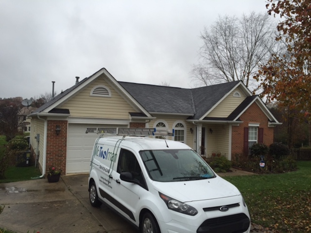 Full roof replacement in Concord North Carolina.