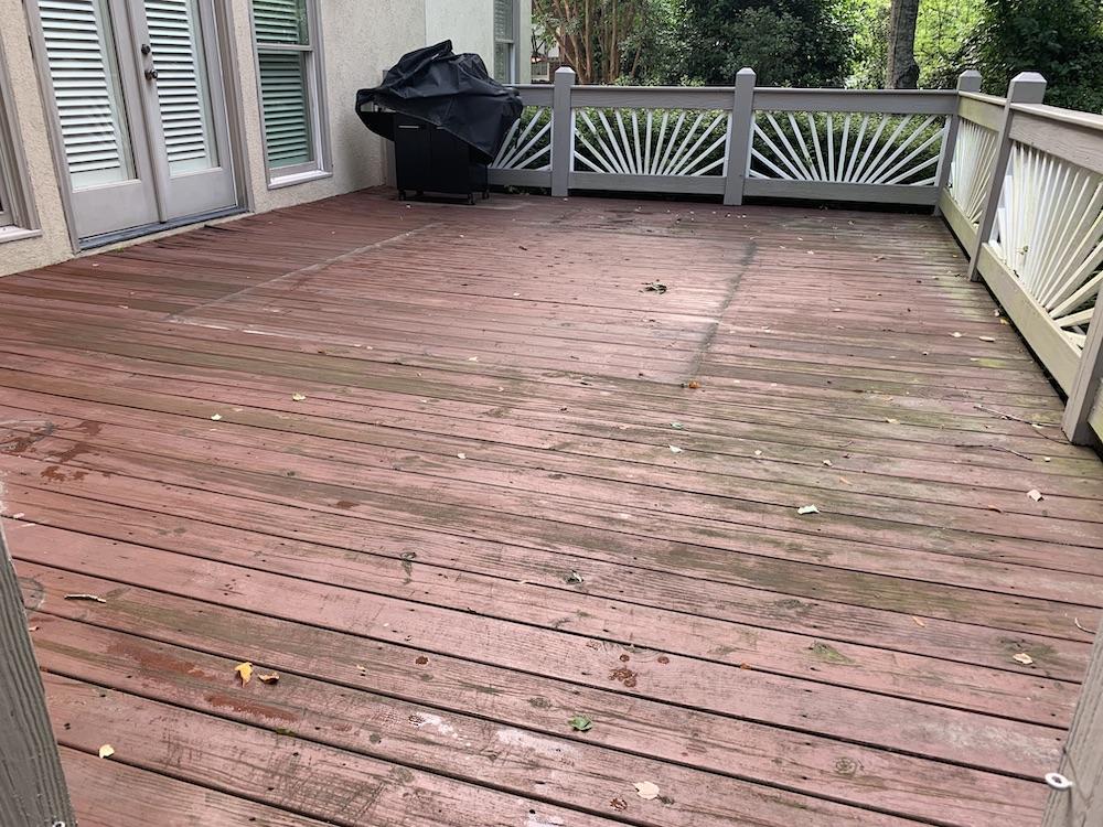 Old worn deck boards - Decks
