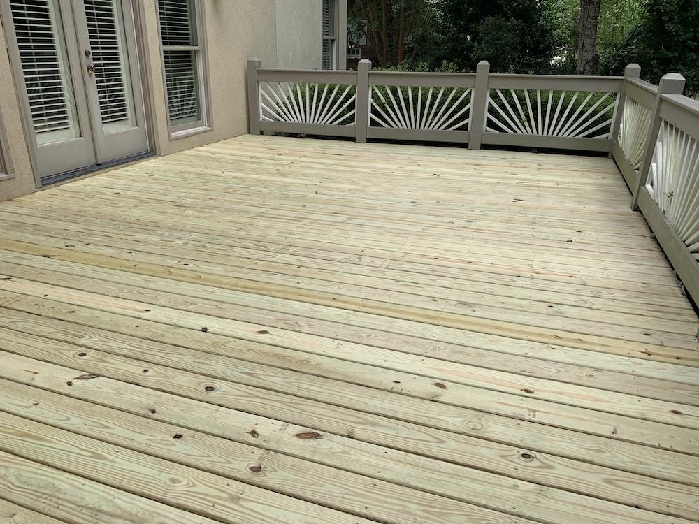 New Deck Boards Installed - Providence Springs Neighborhood - Decks