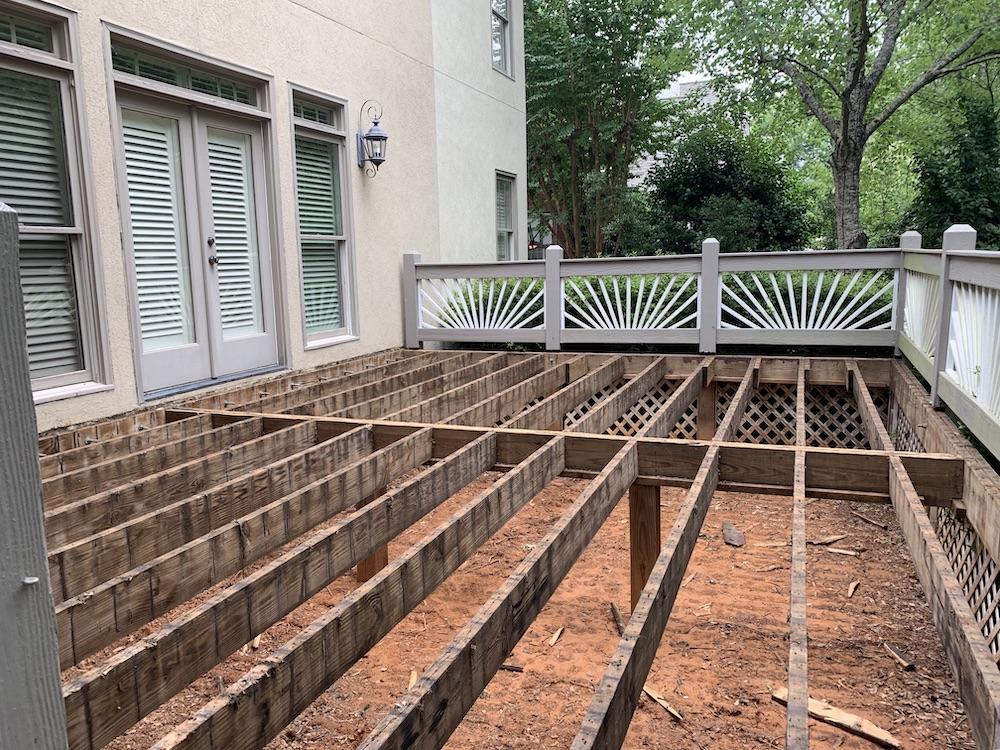 Deck boards removed - Decks