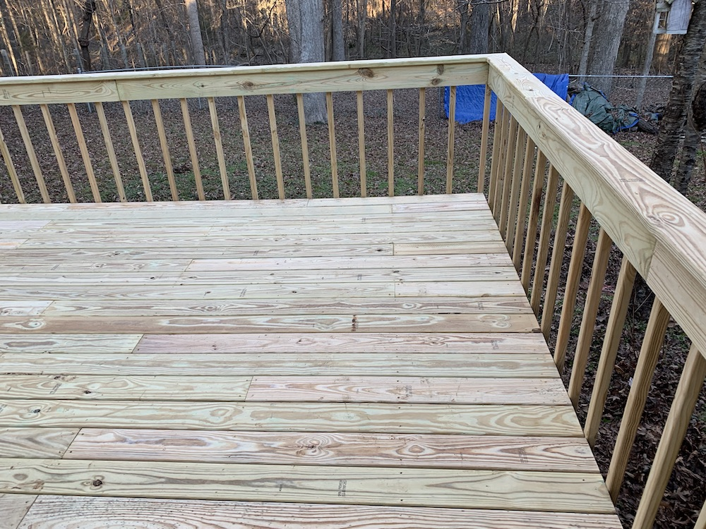 New Deck Boards Installed in Waxhaw, NC