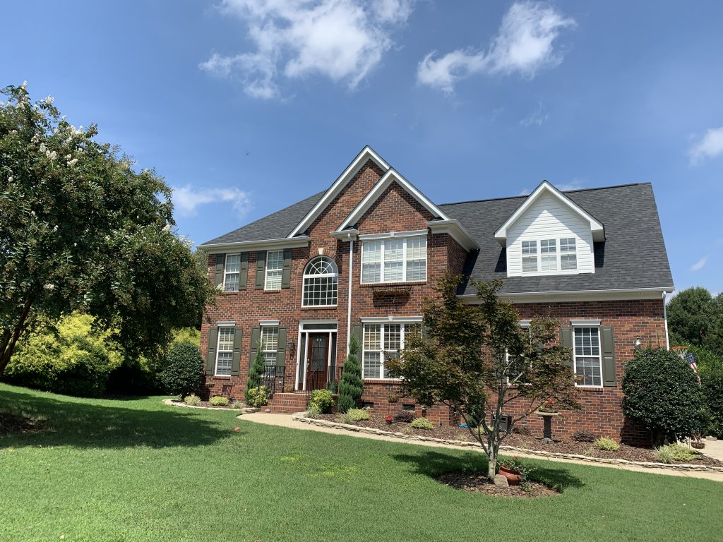 Roof replacement by McToolman roofing contractor. Shannamara Neighborhood in Matthews, NC
