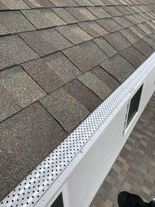"5"" Gutter caps installed on existing gutter system."