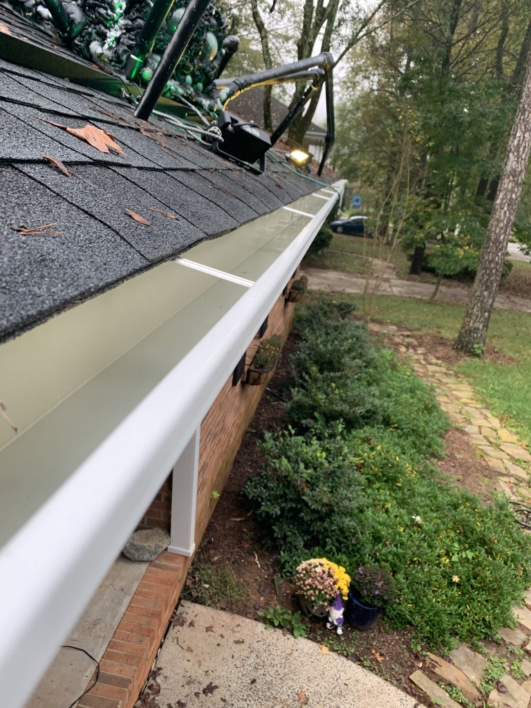"""6"""" k-style aluminum gutters installed in charlotte, nc."""