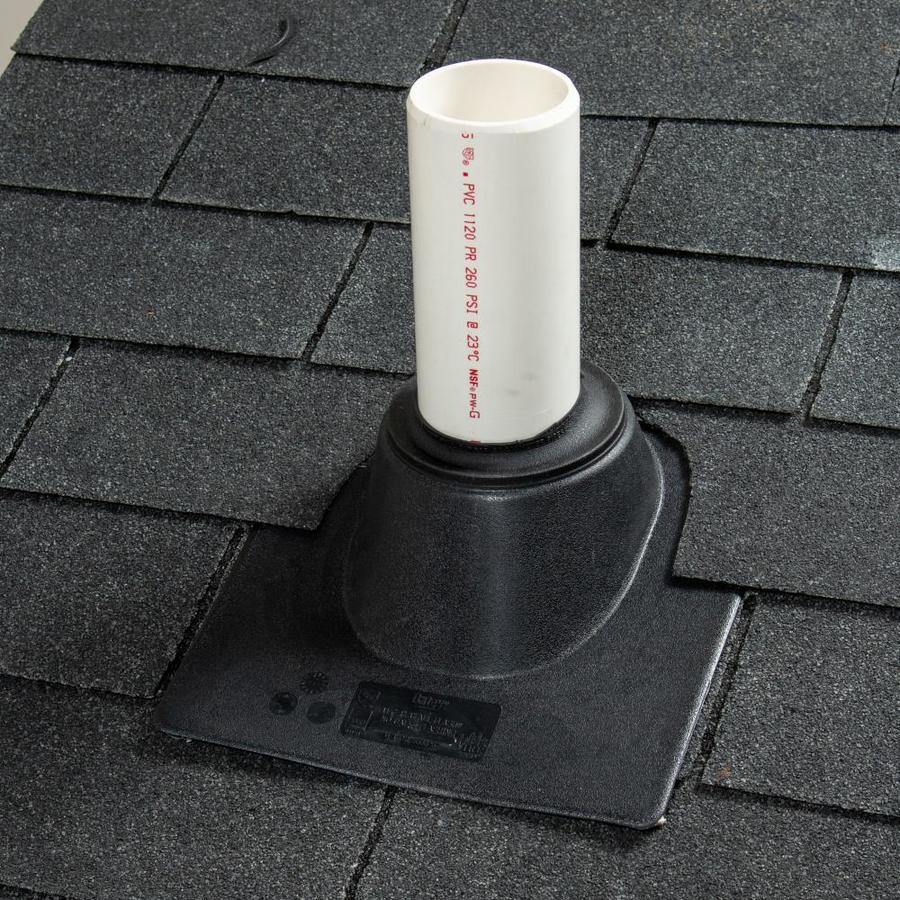Properly installed plumbing vent pipe collar